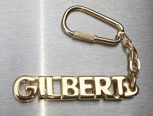 Geschenk- & Werbeartikel Vorsichtig Edler SchlÜsselanhÄnger Gilbert Vergoldet Gold Name Keychain Weihnachtsgeschenk Sonstige