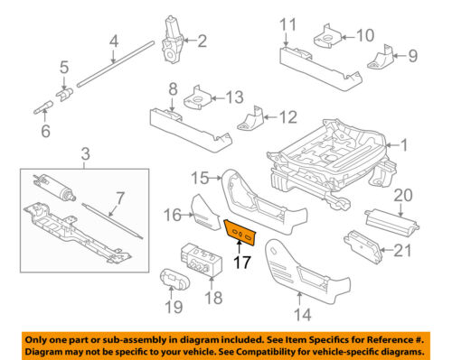 FORD OEM 11-14 F-150 Seat Track-Housing Left BL3Z14A706FA