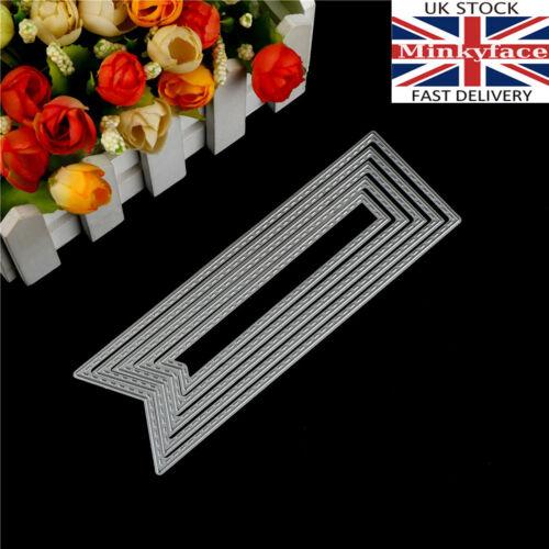 5 pce nesting banner flag die set stitch detail metal cutting die cutter UK