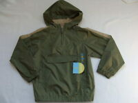 Boys Gymboree Jacket Size 7 Spring Windbreaker Pullover Hooded Green
