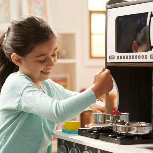 Charcoal Melissa and Doug Chef/'s Kitchen Kids Play Set