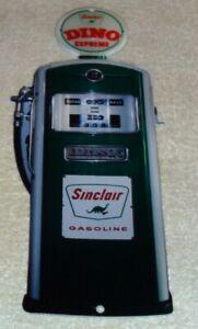 VINTAGE-SINCLAIR-DINIO-SUPREME-SERVICE-STATION-GASOLINE-PUMP-12-034-METAL-OIL-SIGN