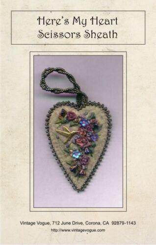 Here/'s My Heart Scissors Sheath Pattern by Janet Stauffacher To Fit Scissors