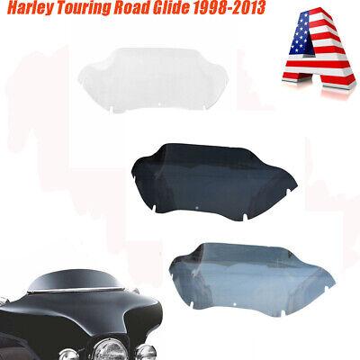 "Smoke 9/"" Wave Windshield Windscreen For Harley Touring Road Glide FLTR 1998-2013"