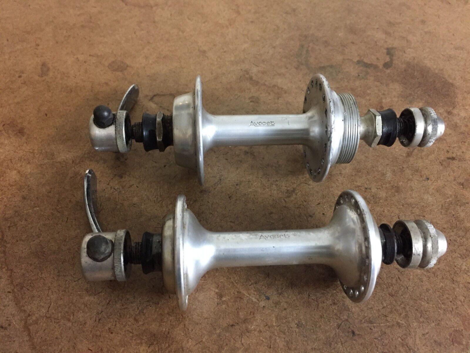 Vintage Avocet road bike hub set 36h 126mm freewheel sealed bearings QR skewers