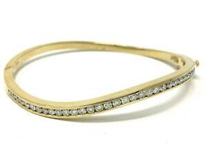 14k-Yellow-Gold-Diamond-Bangle-Bracelet-1-70-CTW-Round-Diamonds-Size-6