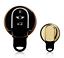Schlüsselcover Schlüsselhülle Mini Cooper Hatch Clubman Cabrio Gold Chromlook
