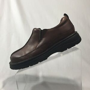 gbx men's brown leather casual loafer hiking walking shoes