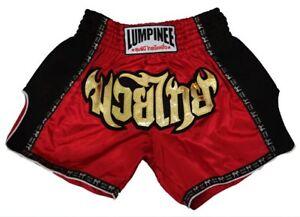 Lumpinee Muay Thai Shorts Boxing Shorts Retro Red Kickboxing Sizes 26/' to 44/'