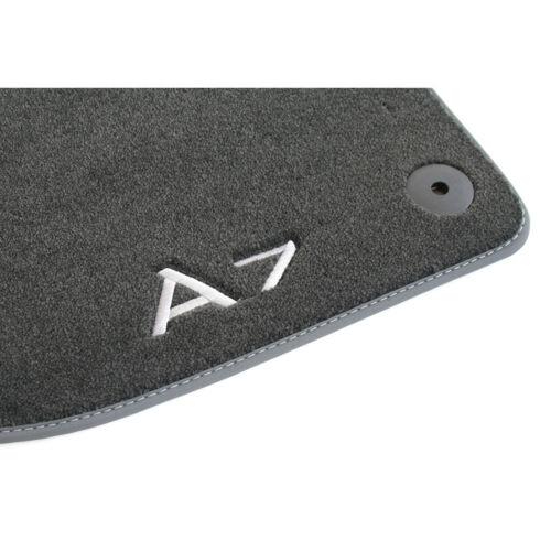 ORIGINALE Audi a7 SPORT BACK Premium Textil Tappetini Anteriore tappetini velluto c8 4k