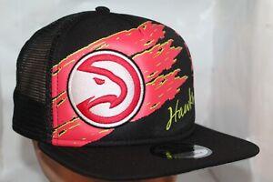 newest a4ec1 b448a Image is loading Atlanta-Hawks-New-Era-NBA-Swipe-Trucker-9Fifty-