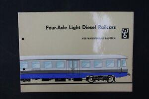 Age Print VEB GDR Light Diesel Railcars Old Vintage Advertising Brochure