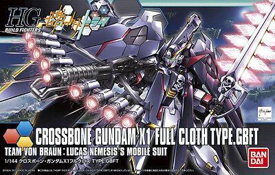 HGBF 1/144 Crossbone Gundam X-1 Full Cloth Type.GBFT Plastic Model Kit Bandai