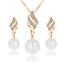 Women-Heart-Pendant-Choker-Chain-Crystal-Rhinestone-Necklace-Earring-Jewelry-Set thumbnail 5