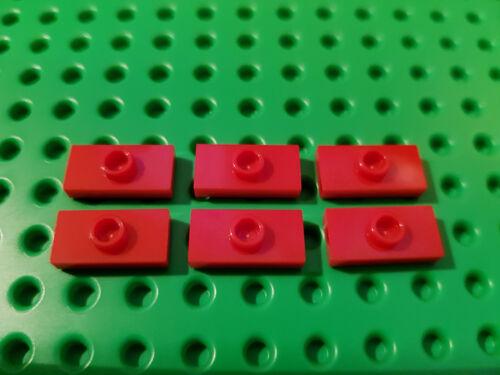 #aa53 LEGO ® 6 x 15573 plaque 1 x 2 rouge 1 Noyau au milieu 6092565 modifie