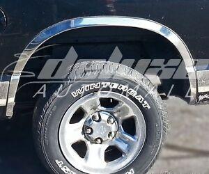 Chrome Stainless Steel Fender Trims 4PCS FOR Dodge Ram 1500 2500 3500