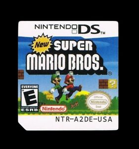 Details about New Super Mario Bros DS Replacement Label Sticker glossy  precut Nintendo DS