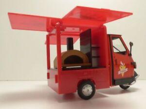 triporteur piaggio ape 50 camion de pizza 1 18 ebay. Black Bedroom Furniture Sets. Home Design Ideas