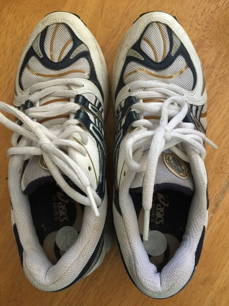 ASICS Gel Kayano gold & NAVY Athletic Running Running Running Walk Yoga Women shoes Sz 6.5  0b22fa