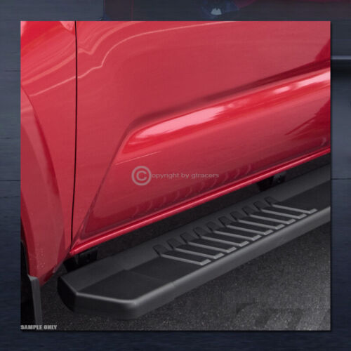 "For 2007-2018 Chevy Silverado Crew Cab 6/"" Matte Black OE Aluminum Running Boards"