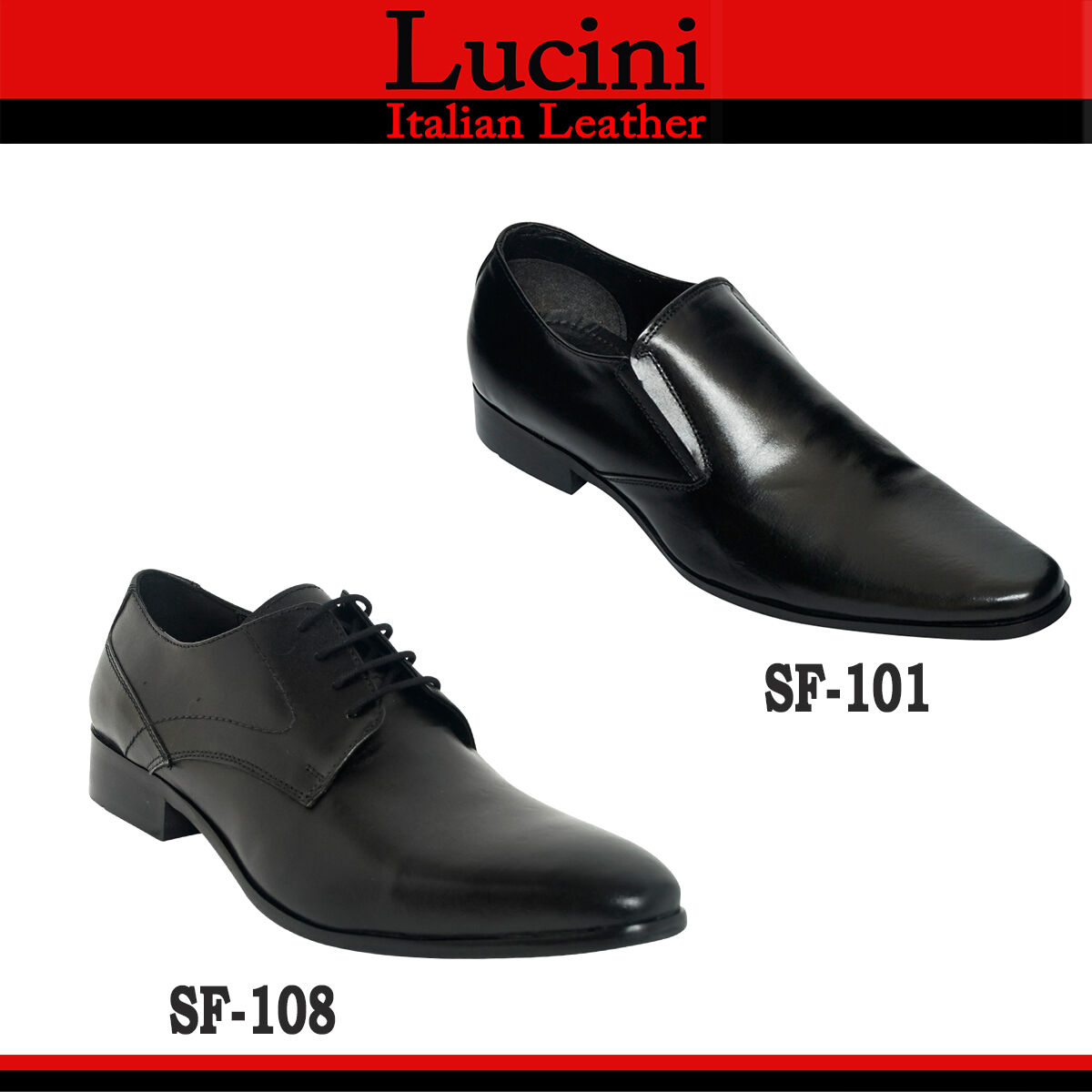 Lucini Formal Mens Leather Smart Outdoor Formal Lucini Evening Office Shoes d6aff9
