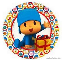 Pocoyo Party Supplies Plates Cake Pocoyó Birthday Decoration Kids Elly Fiesta X8