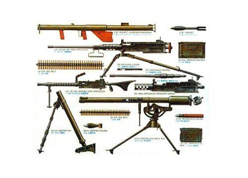 Tamiya 35121-1//35 WWII US Infantrie Waffen Set Neu