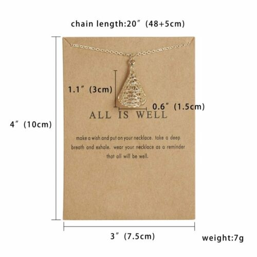 Women Animal Cat Paper Card Necklace Pendant Gold Clavicle Short Jewelry Gift