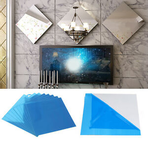 new 3pcs mirrors mosaic self adhesive decorative tiles wall stickers home decor. Black Bedroom Furniture Sets. Home Design Ideas