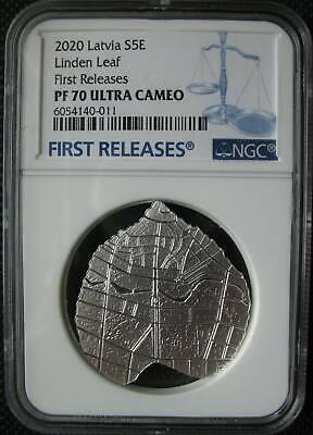 "Proof /""Linden leaf/"" 5 Euro Silver Coin Collection 2020 Latvia Silver Coin"