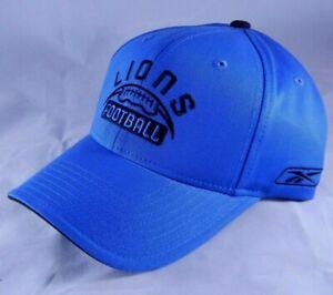 Detroit-Lions-Football-Adjustable-Cap-Reebok-Team-Apparel-Hat-Blue