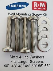 Long-Wall-Mount-Screws-Kit-M8-for-Samsung-LCD-LED-QLED-40-034-and-Larger