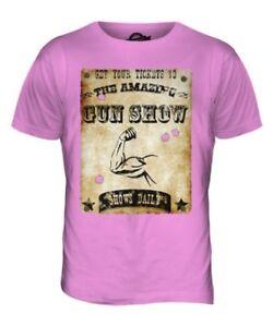 The-Amazing-Pistola-Show-Divertente-da-Uomo-T-Shirt-Stampata-Muscolo-Ironico