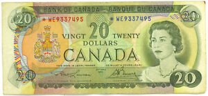 Bank-of-Canada-1969-20-Twenty-Dollars-Replacement-Note-WE-Asterisk-Fine