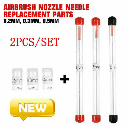 0.2//0.3//0.5mm Airbrush-Nozzle Needle Replacement Parts-Tool For Airbrushes-Spray