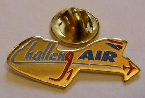 CHALLENG-AIR-1-AIR-INTER-AIR-FRANCE-airlines-aviation-vintage-pin-badge