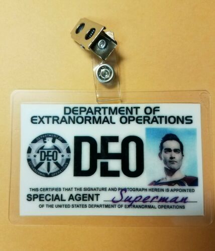 DEO Special Agent Superman costume prop cosplay Supergirl ID Badge