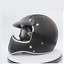 miniature 13 - Vintage Full Face Motorcycle Helmet Deluxe Leather Street Bike Cruiser Helmet