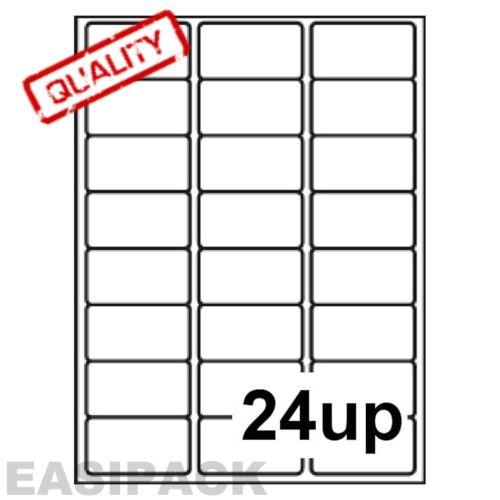 1 000 feuilles étiquettes jet d/'encre laser adresse 24 x 33 mm jusqu/' à 63