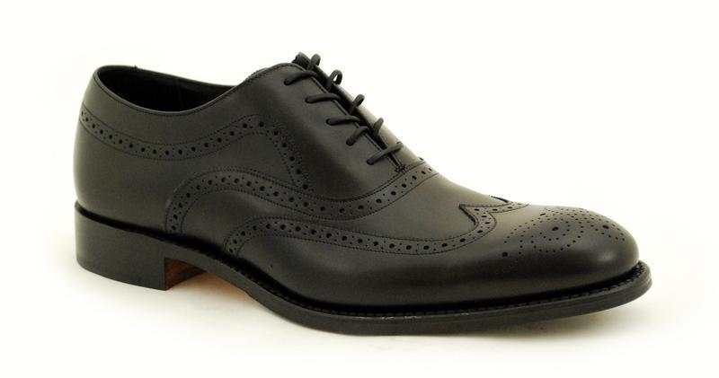 Loake cadre cousue premium premium cousue Chaussures Hommes 5 Eye Heston Black 5d27fb