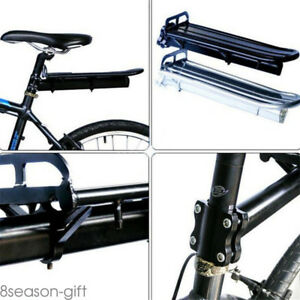 Mount-Bike-Bicycle-Rear-Rack-Seat-Post-Mount-Pannier-Luggage-Carrier-Aluminum-HX