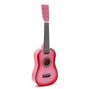 23 In (environ 58.42 Cm) Enfants Instrument De Musique Enfant En Bois Rose Guitare Acoustique Cadeau Nouveau-afficher Le Titre D'origine