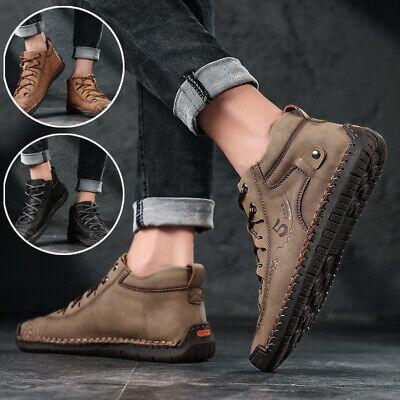 Herren Kunstwildleder Freizeit Mokassins Slipper Slip on Schuhe Verfügbar UK