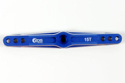 15T alloy servo arm HPI Baja 5B 5T 5SC Losi 5T DBXL Rcmk XCR Savox hitec blue
