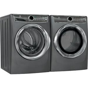 Electrolux EFLS627UTT & EFMC627UTT, Front Load Washer Dryer Set with warranty