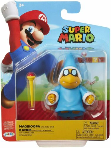 Super Mario 4 Inch Scale Figure Magikoopa with Magic Wand *BRAND NEW*