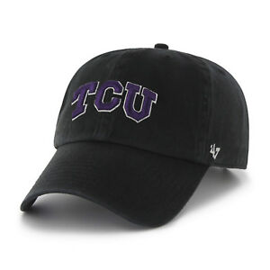 5aca826fd84ac Image is loading NCAA-Texas-Christian-University-Clean-Up-Adjustable-Hat-