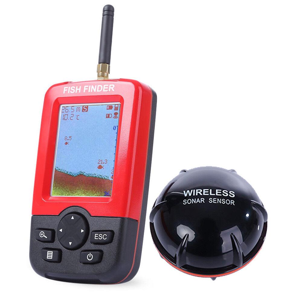 Portátil 100m 100m 100m Inteligente Fish Finder con Inalámbrico a Distancia Sónar Sensor a80b60