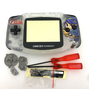 GBA-The-Legend-of-Zelda-Housing-Shell-Gameboy-Advance-case-Cover-Clear-White