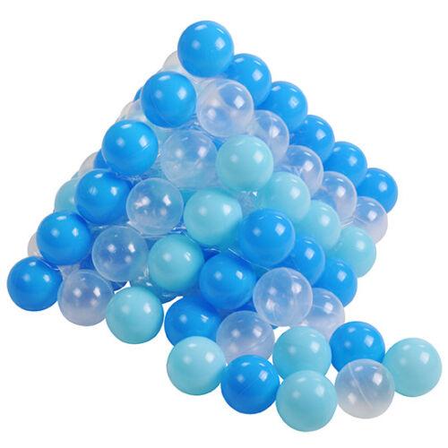 Knorrtoys Bälleset für Bällebad 6cm 100 Bälle  hellblau transparent 56771